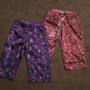 Other - 2 Justice for Girls sleep Capris Silk like size 8